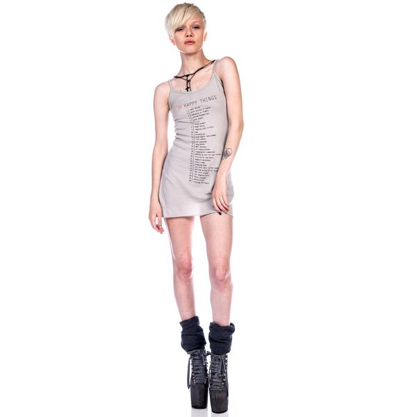 Wildfox Couture 33 Happy Things Skinny Under Tank Dress