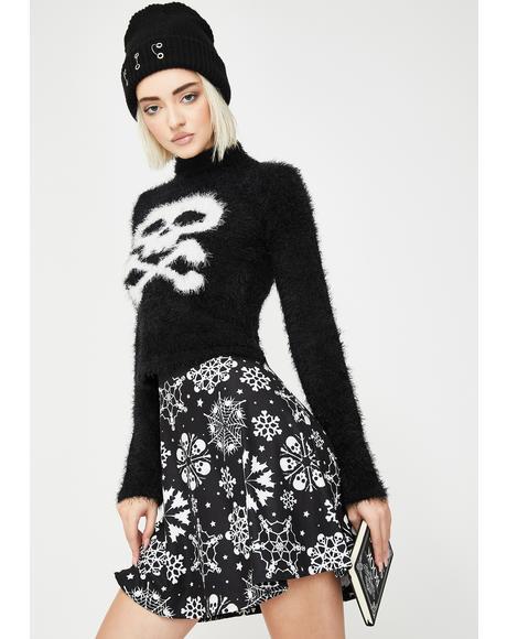 Snowflake Skater Skirt
