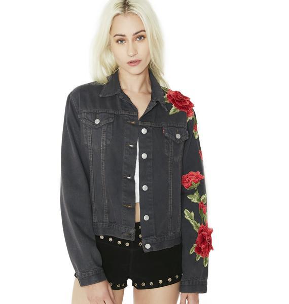 American Vintage Roses Denim Jacket