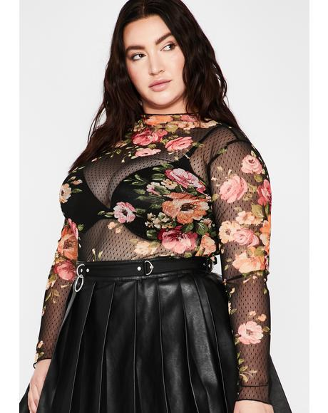 BB Gimme Romance Mesh Top