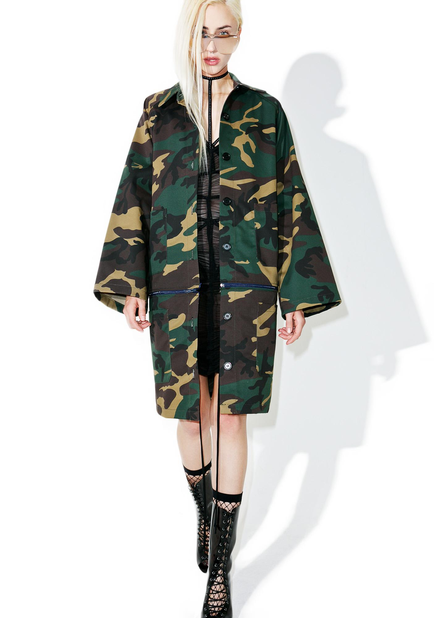 HLZBLZ On 2 U Long Camo Jacket