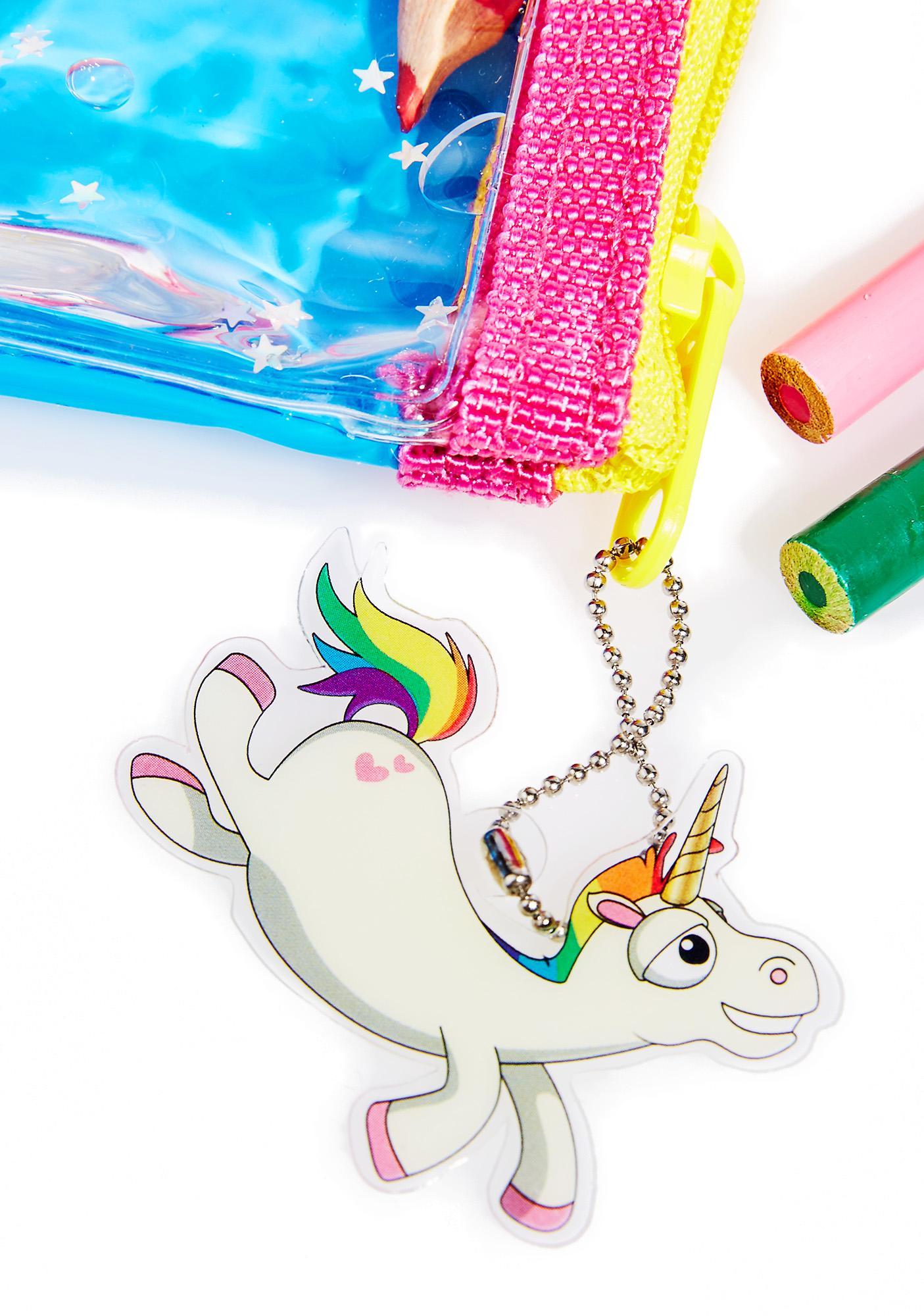 Bubbly Unicorn Pencil Case