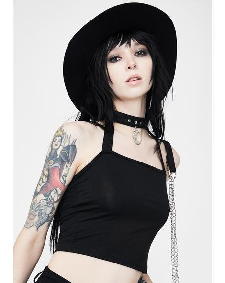 Punk Pendant Halter Top
