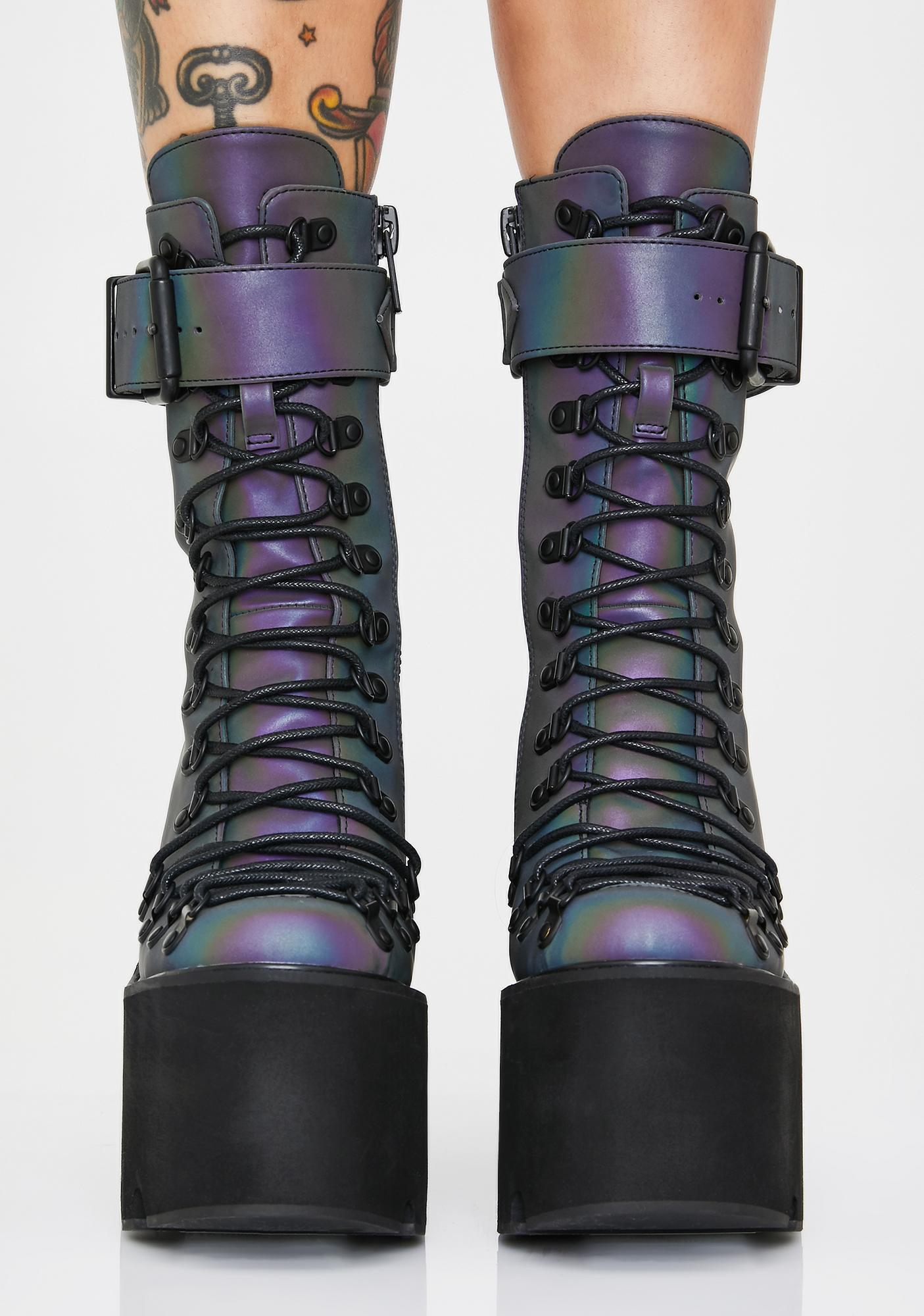 Club Exx Prism Reflective Traitor Boots