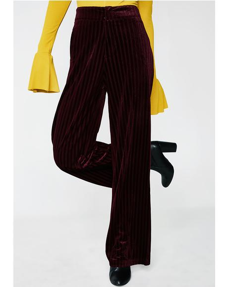 Now Or Never Velvet Pants