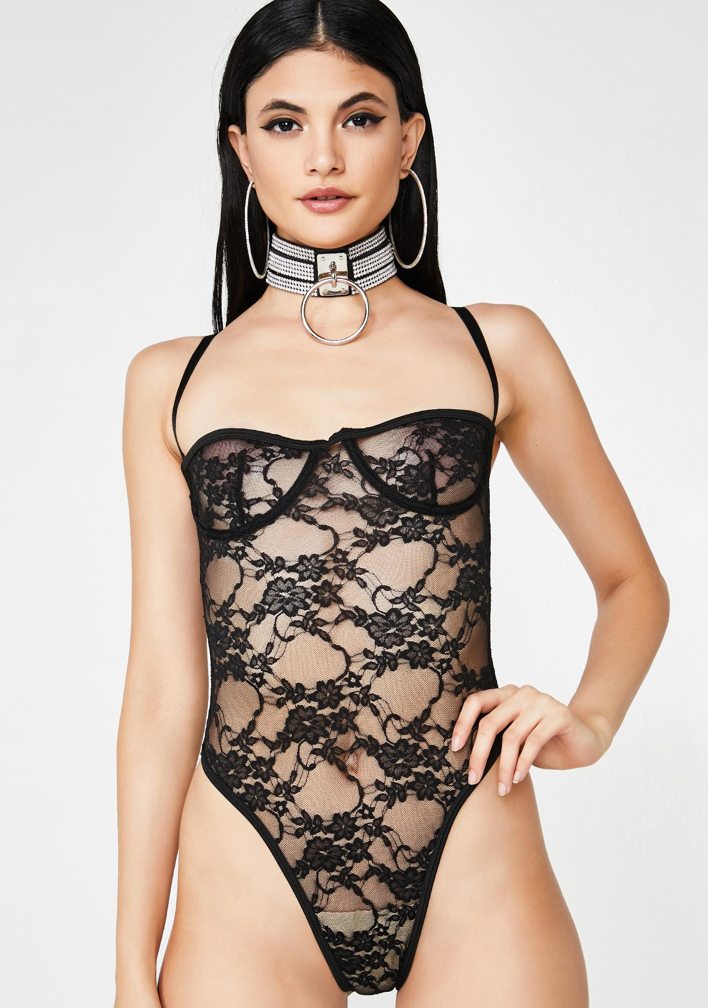 Laced With Love Sheer Bodysuit