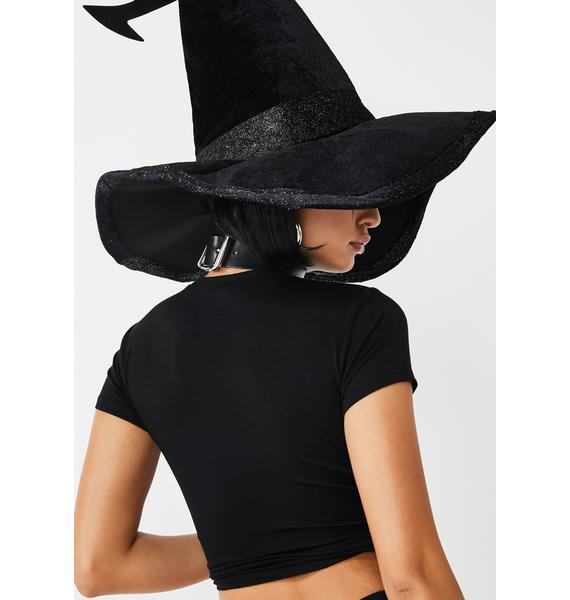 Dolls Kill Head Witch In Charge Baby Tee