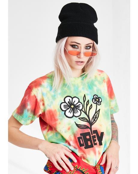 Bloom Tie Dye Graphic Tee