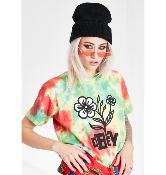 Obey Bloom Tie Dye Graphic Tee