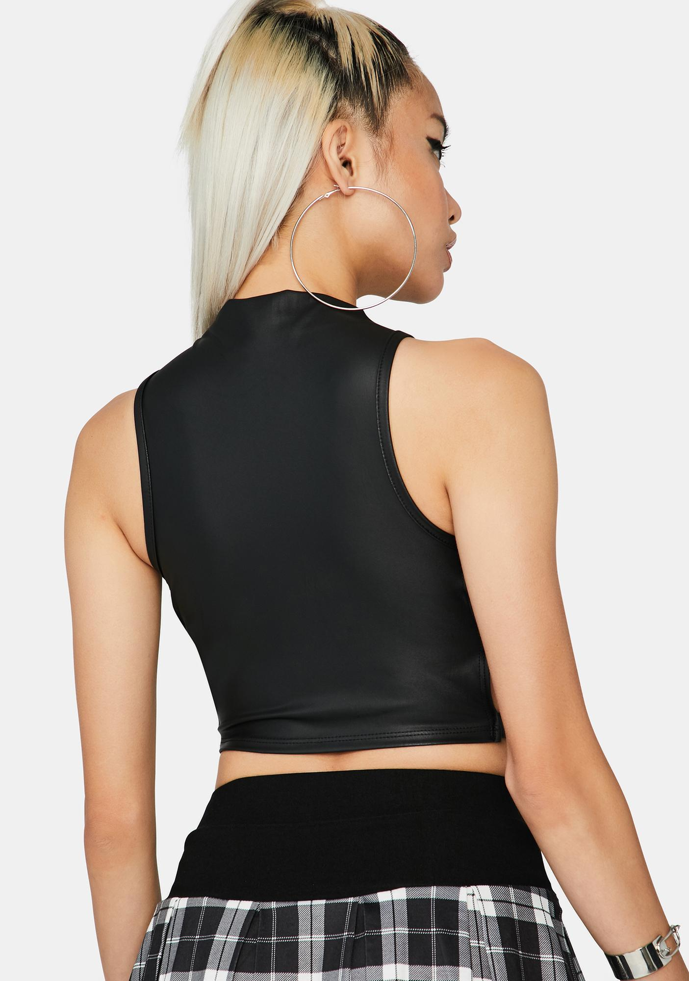 Matte Lethal Sweetheart Crop Top