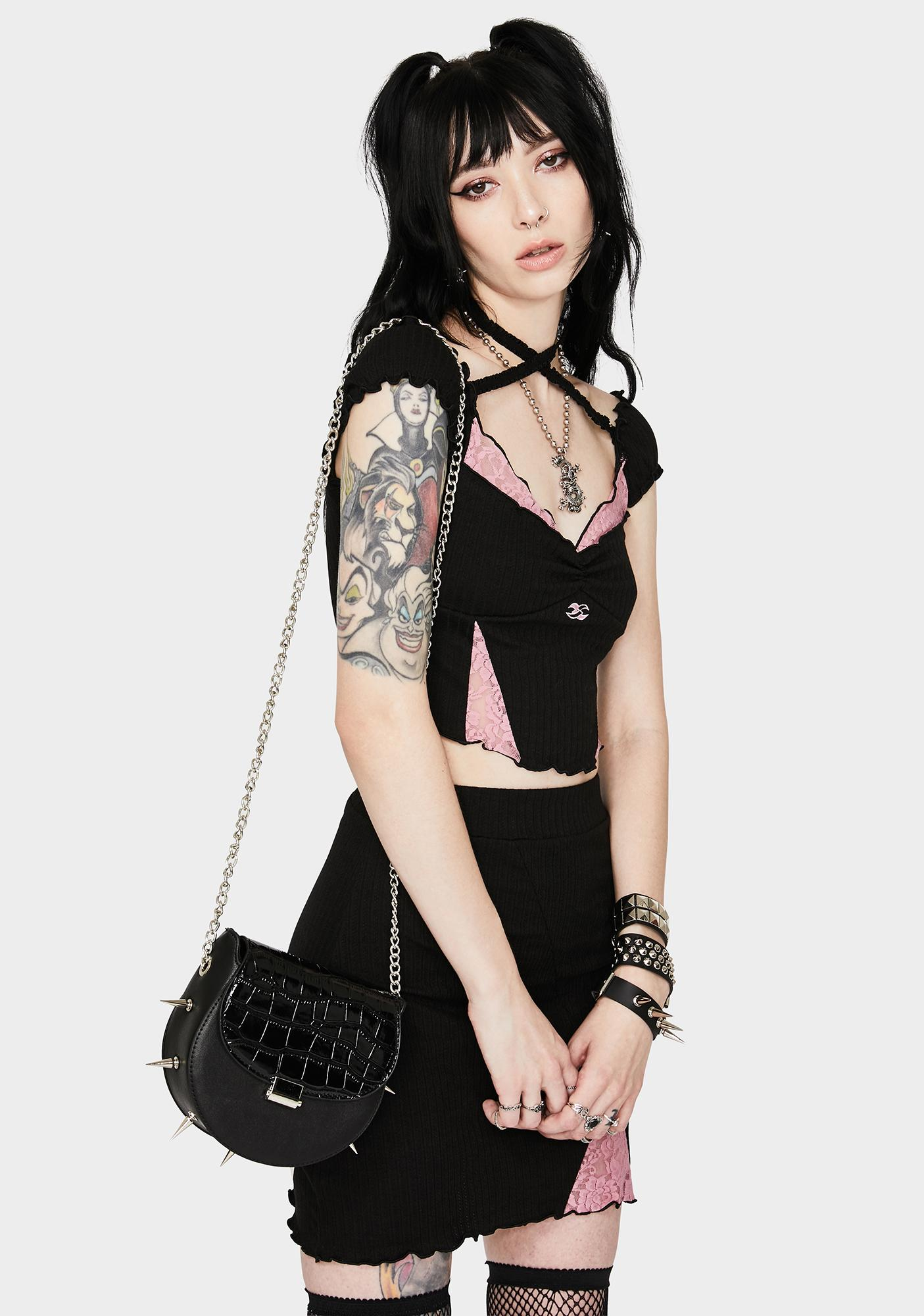 At Any Cost Spiked Crossbody