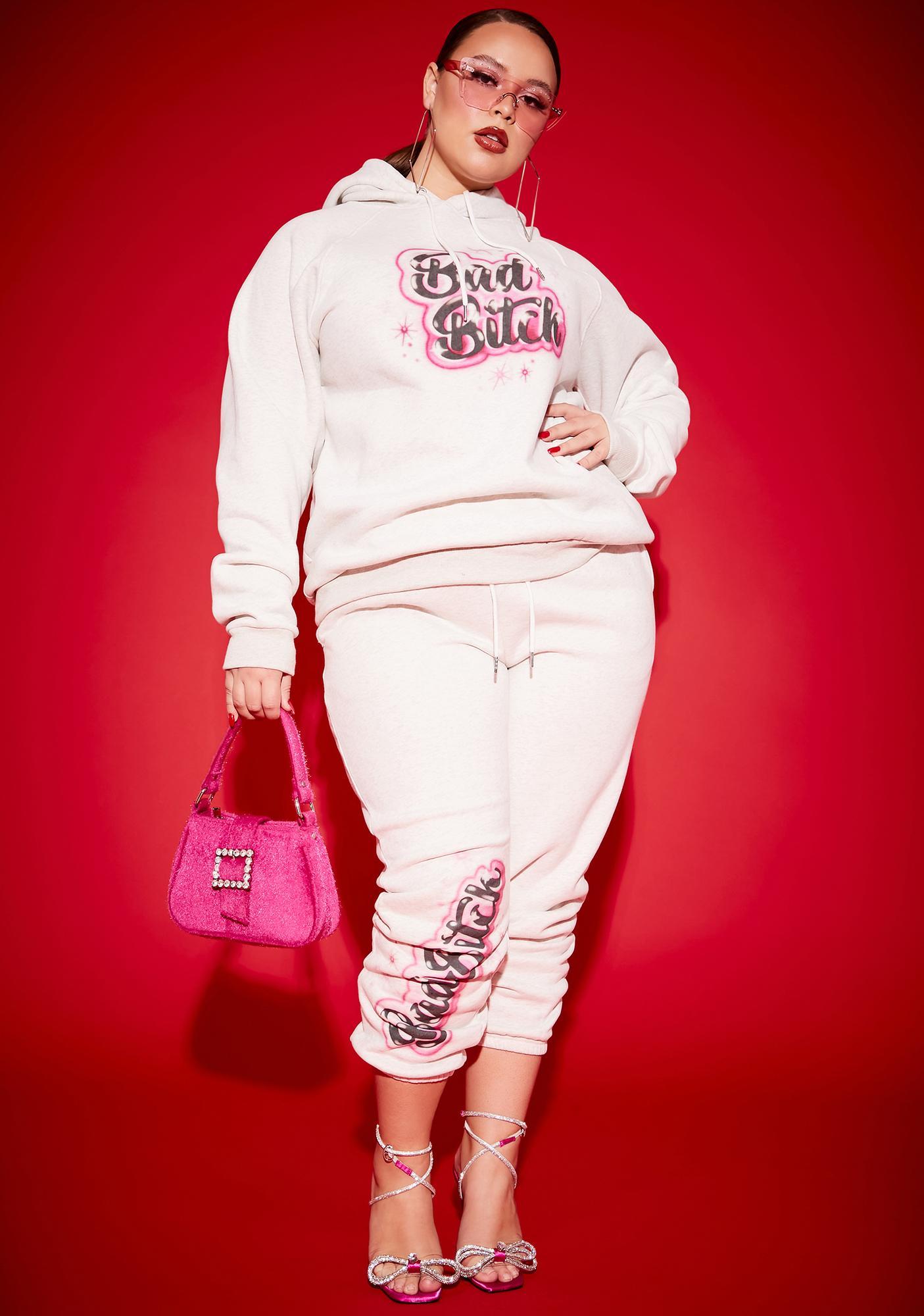 Poster Grl Always A Bad Bish Vibe Airbrushed Fleece Hoodie