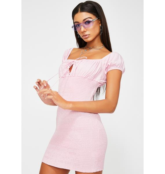 Part-Time Lover Smocked Dress