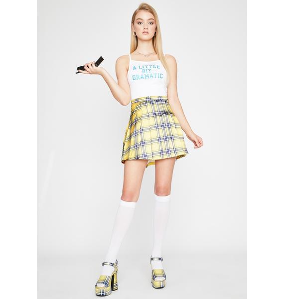 Sugar Thrillz Frenemies Forever Plaid Skirt