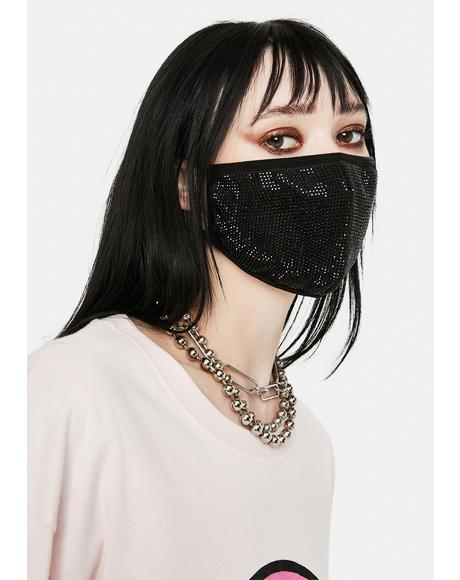 Boss Rhinestone Face Mask