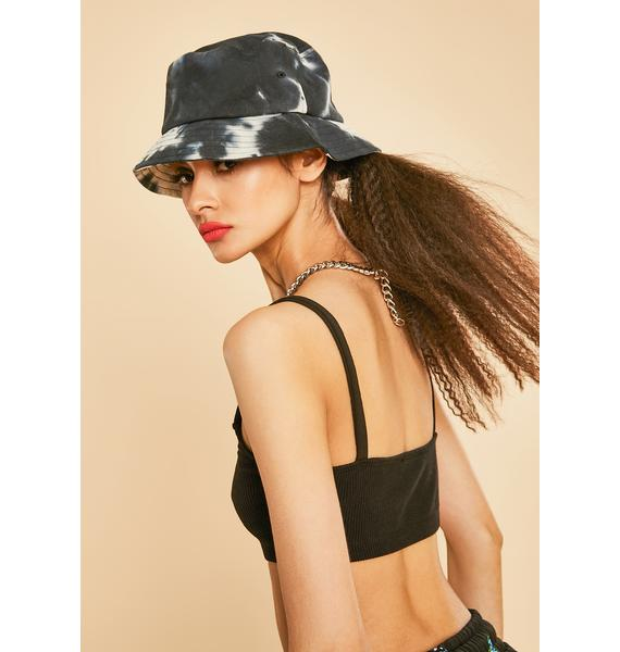 Current Mood Noir Self Portrait Tie Dye Bucket Hat