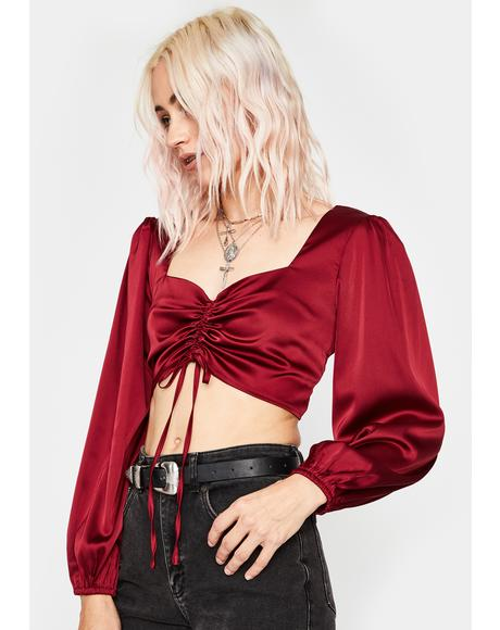 Spicy Payback's A Bish Satin Top