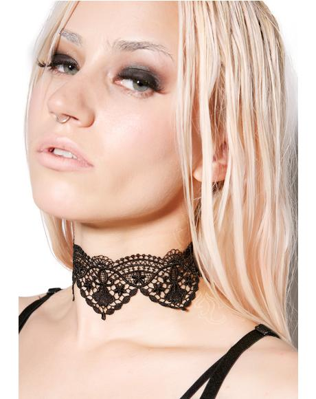 Wicked Valentina Lace Choker
