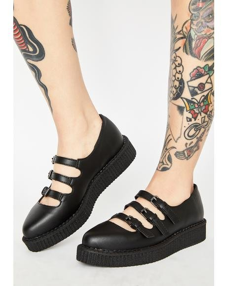 Pointed Mary Jane Creepers