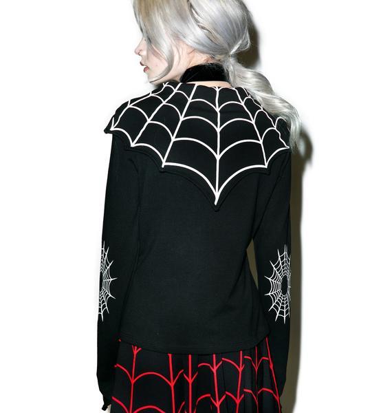 Kreepsville 666 Spiderweb Bat Flap Jacket