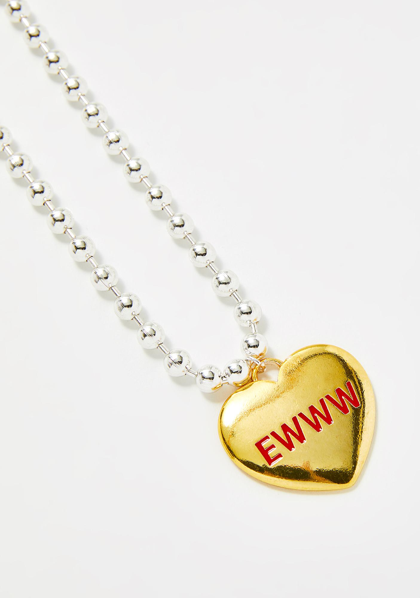 Love Is Gross Heart Choker