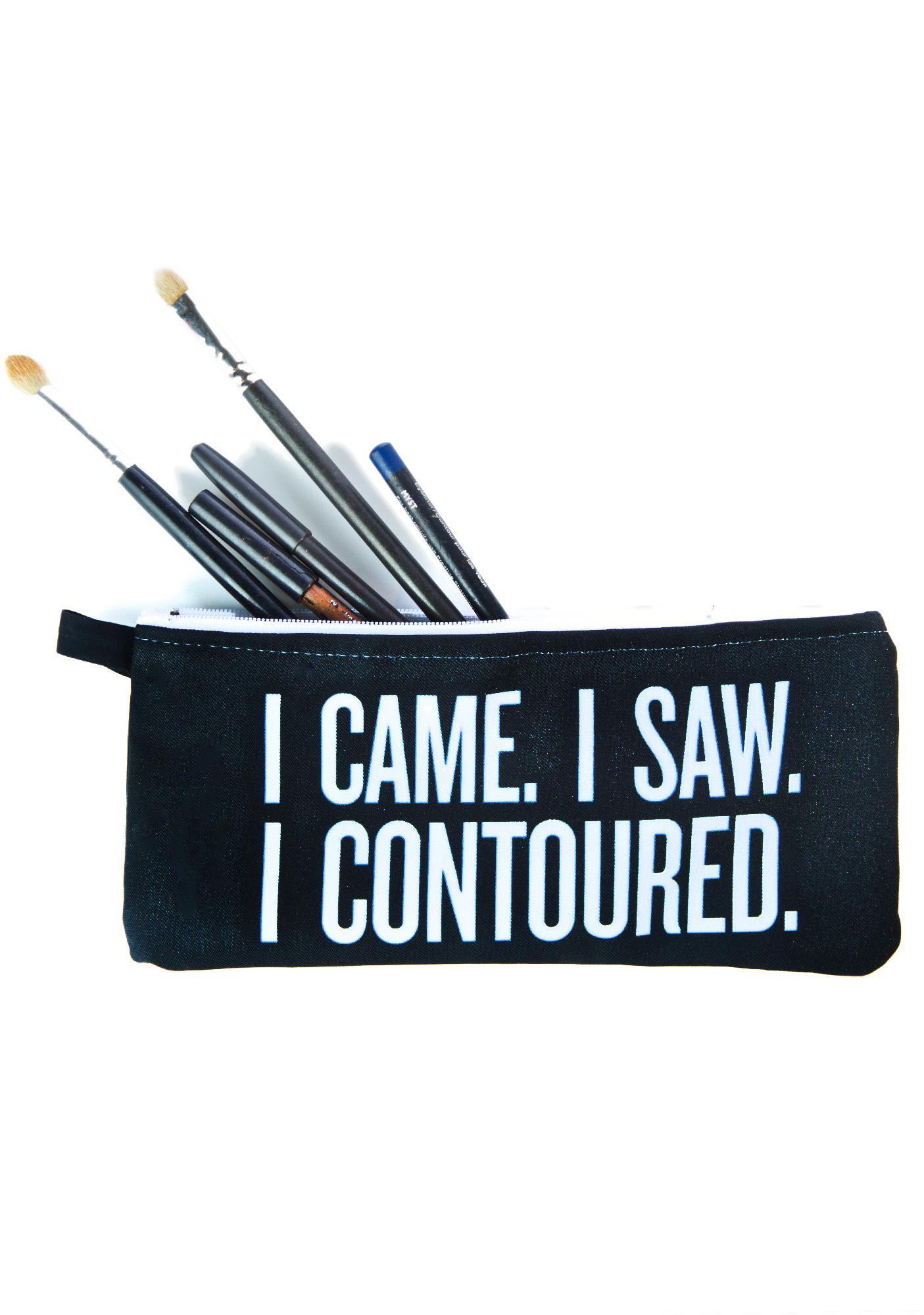 SugarLuxeShop I Came I Saw Makeup Bag