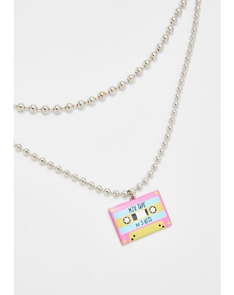 Slow Jamz Cassette Choker Necklace