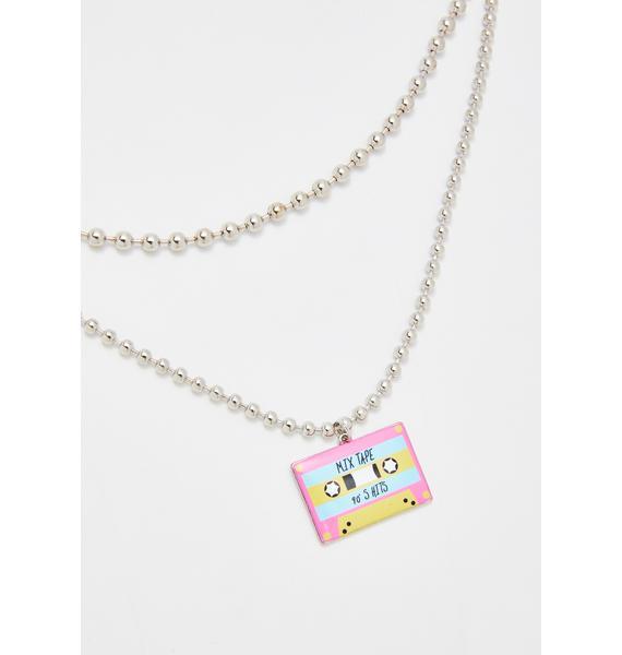 Slow Jamz Cassette Choker Necklace