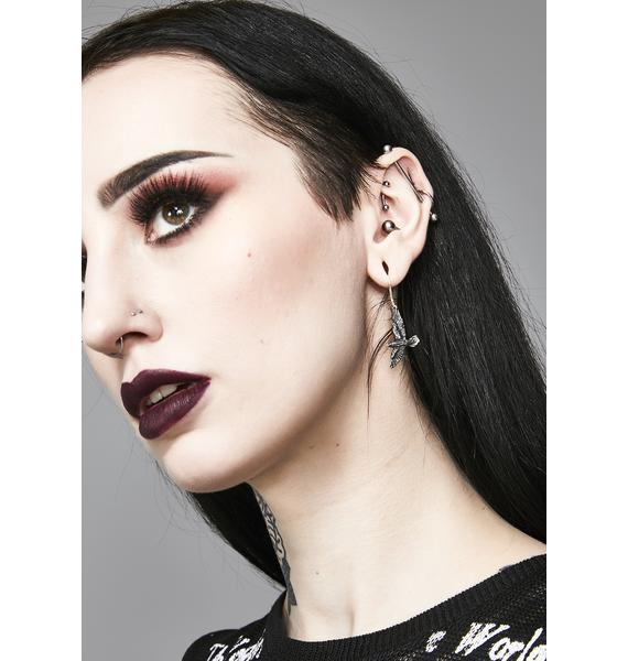 Alchemy England Black Raven Earrings