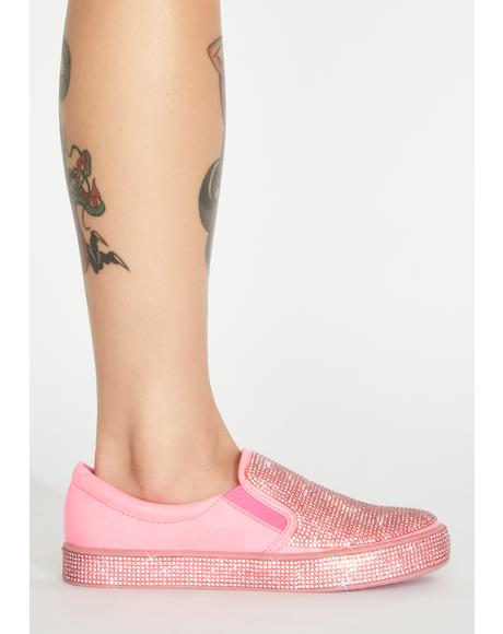Miss Bizzare Bling Slip On Sneakers