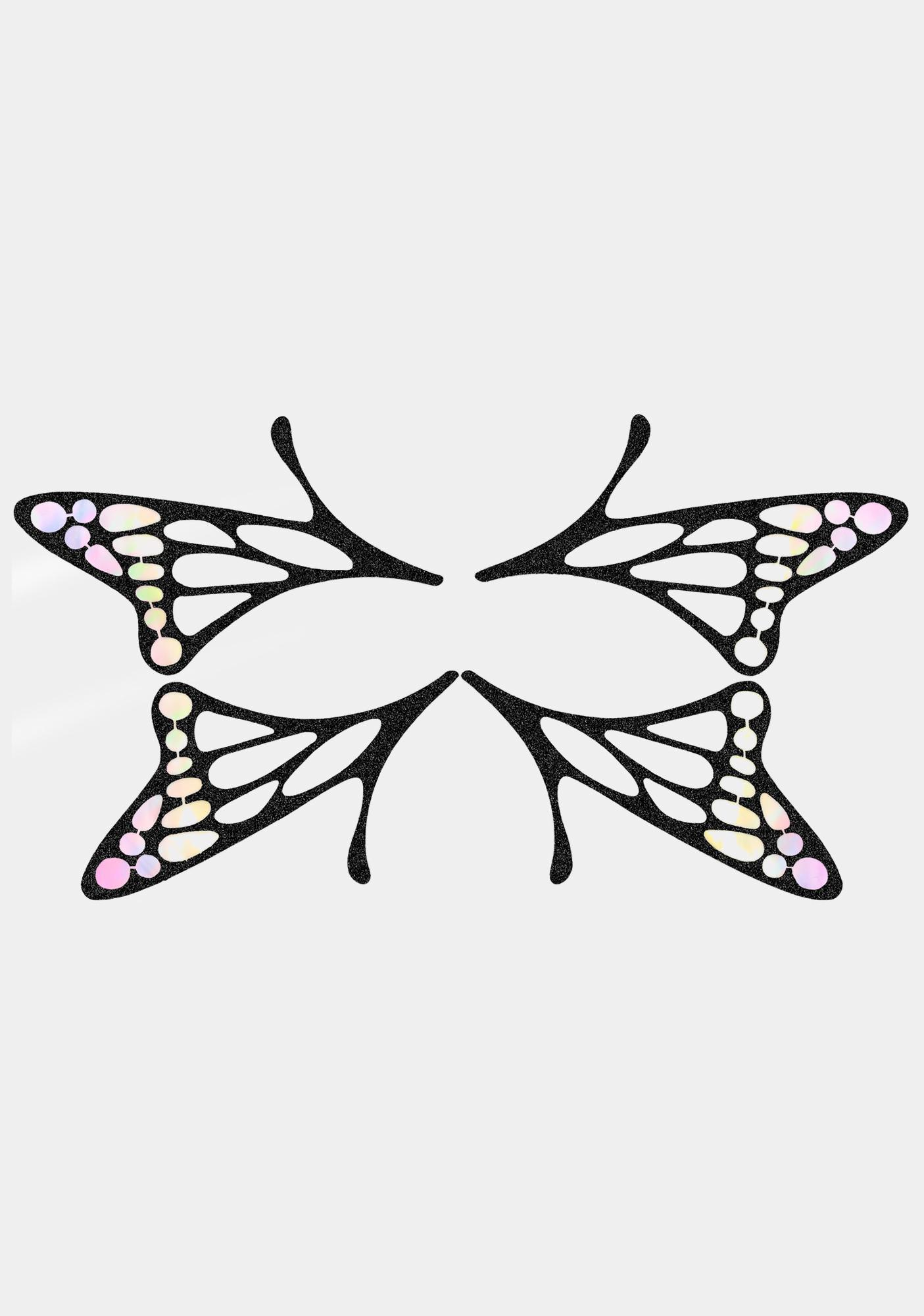 Face Lace Butterfly Lace Face Stickers