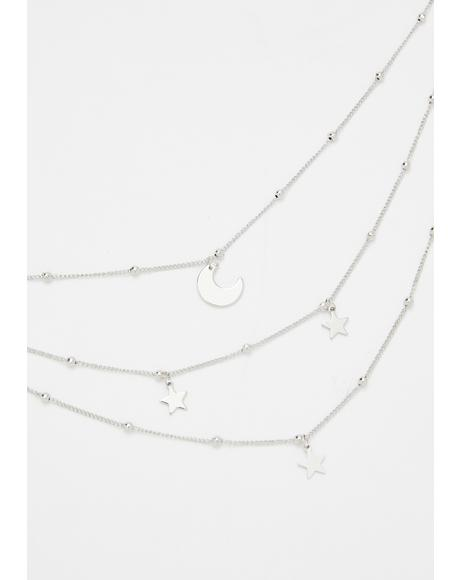 Gimme The Moon Layered Necklace