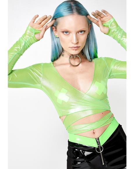 Slime Visionary Vixxen Wrap Top