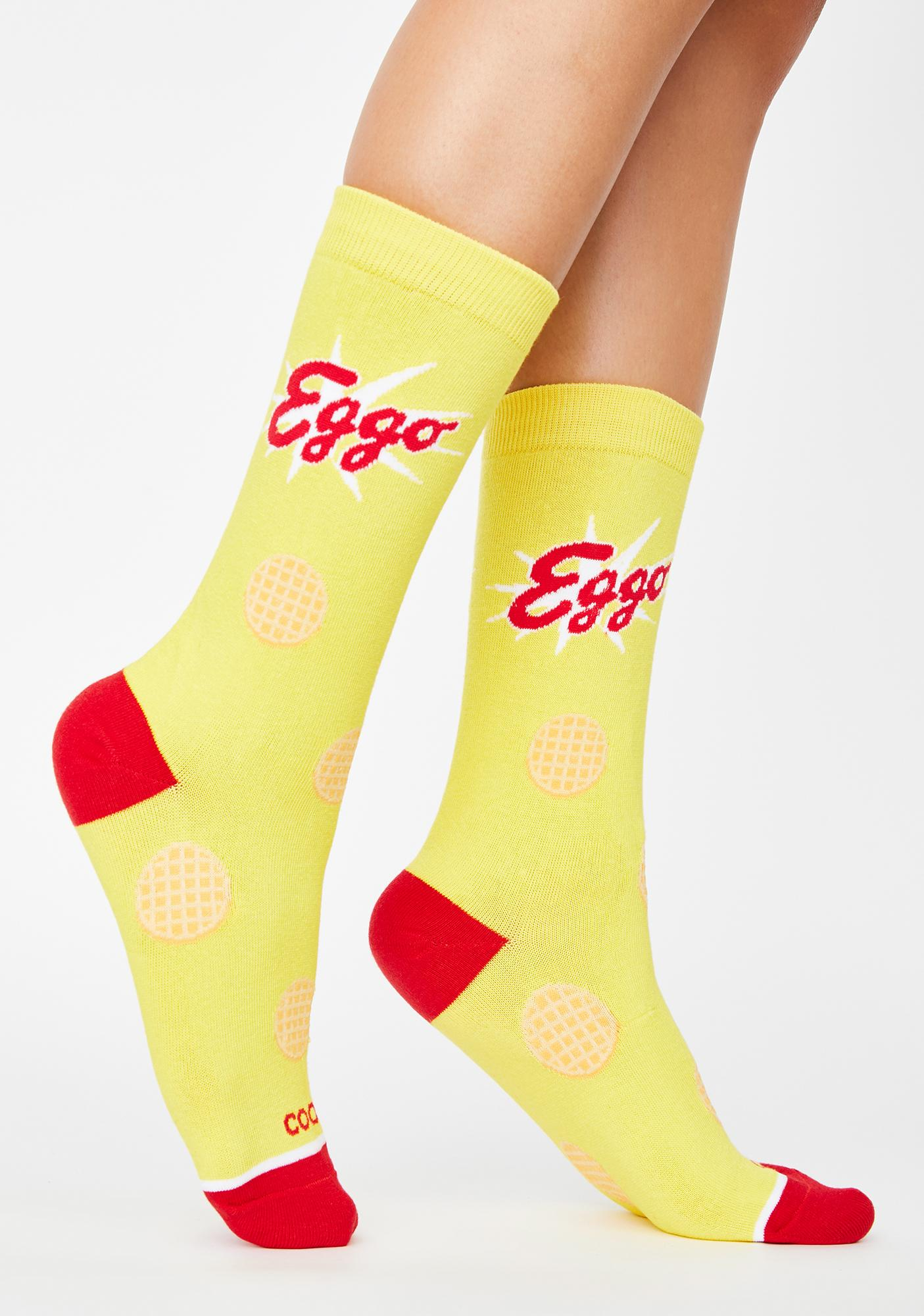 Cool Socks Eggo Waffles Crew Socks