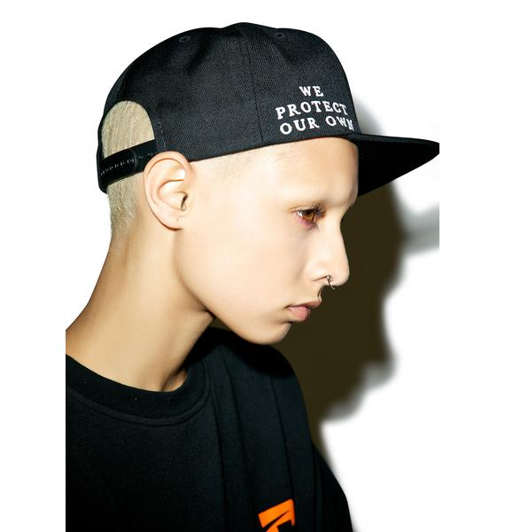 Black Scale Protect Rebels Snapback