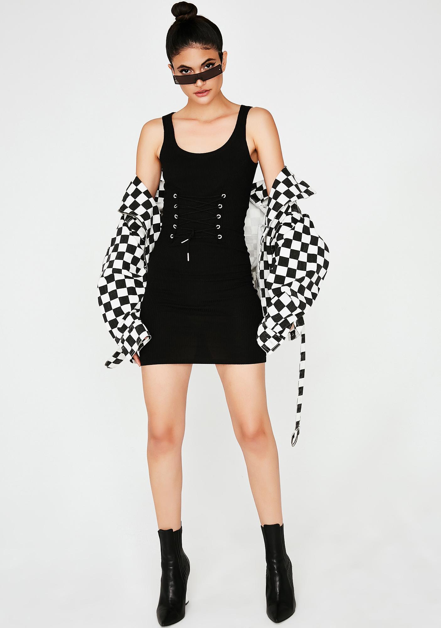 Onyx Doin' Me Corset Mini Dress