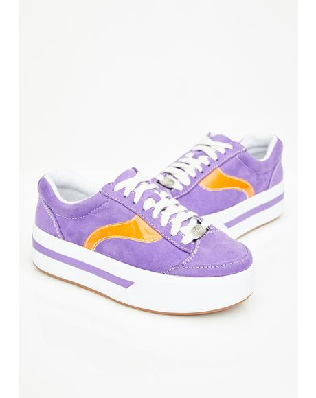 Purp Whats My Age Again Skater Sneakers