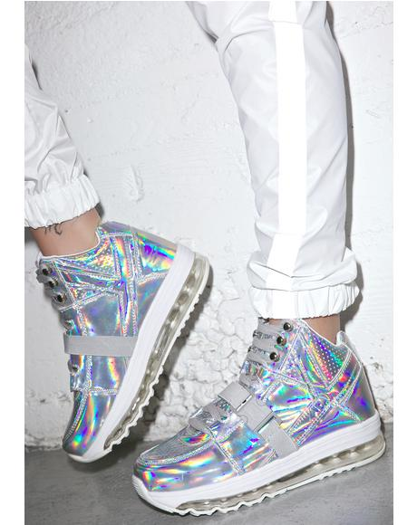 Qozmo Aiire Light Up Hologram Sneakers