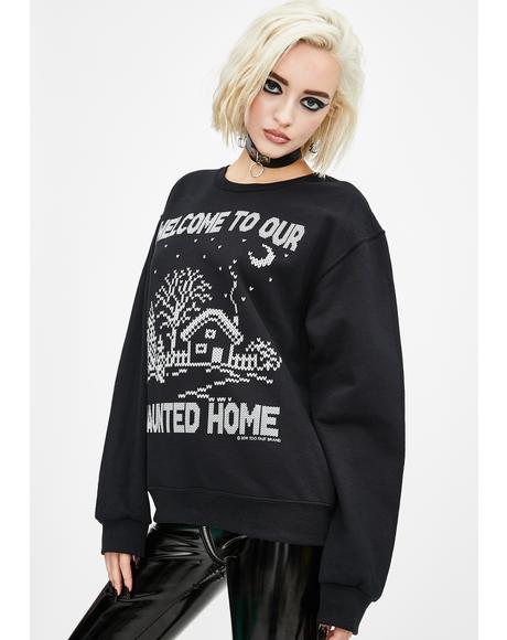 Welcome To Our Haunted Home Sweater