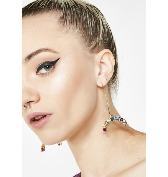 Show Me Rainbowz Hoop Earrings