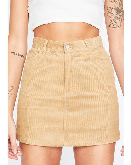Born Wild Corduroy Skirt