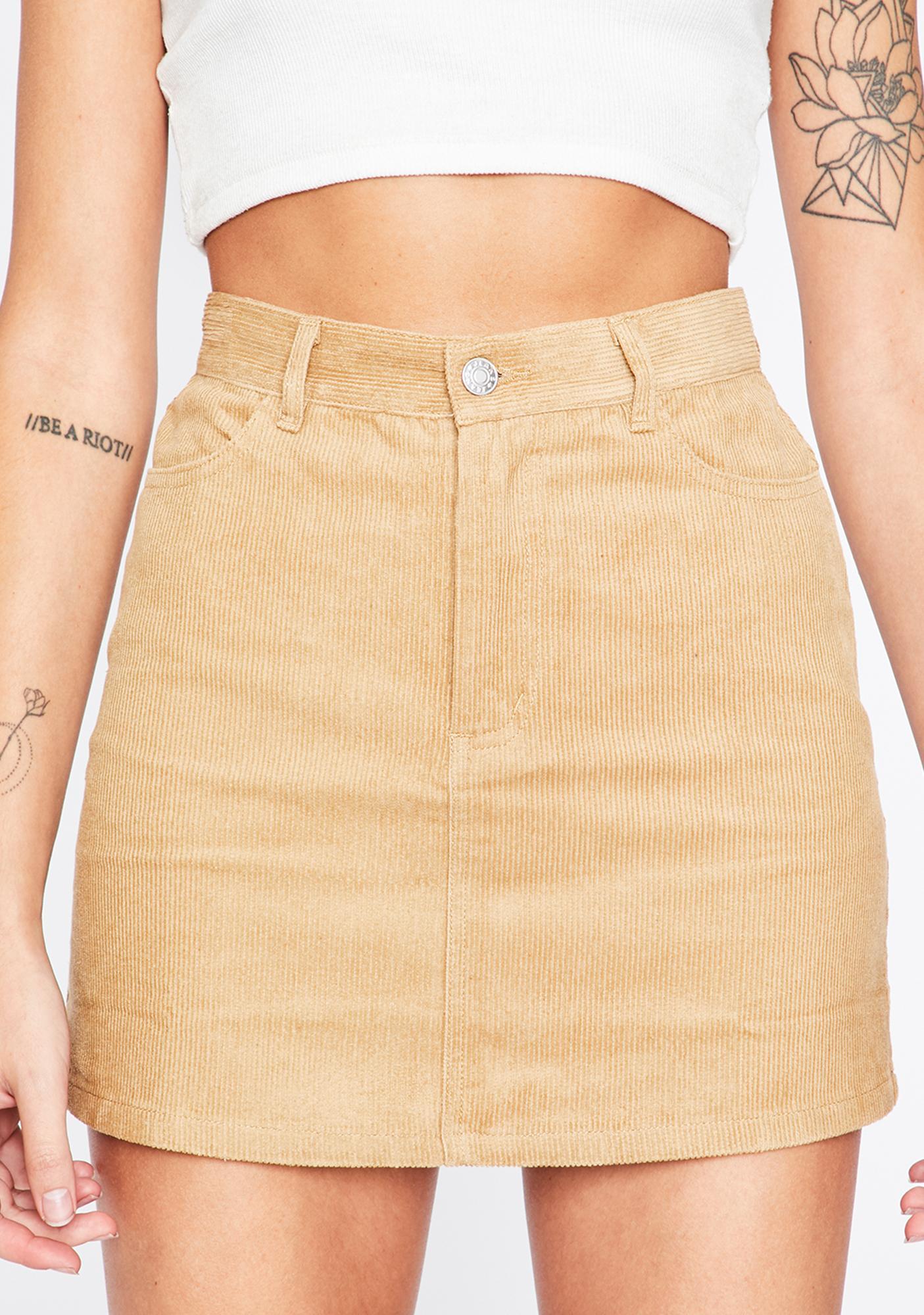 Born Wild Corduroy Skirt