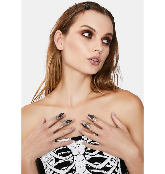 Twisted Sis Nail Ring Set