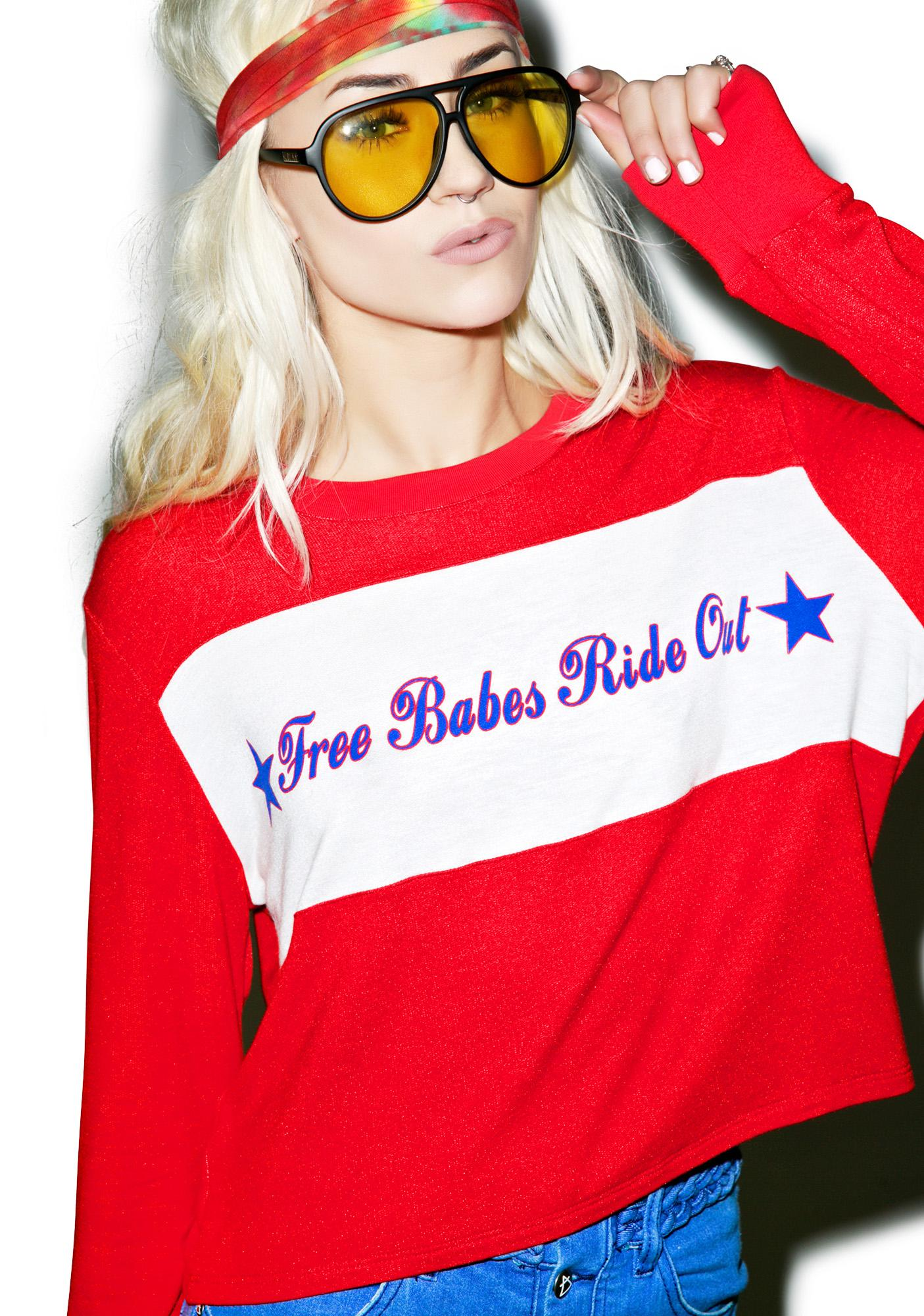 Free Babes Ride Out Long Sleeve