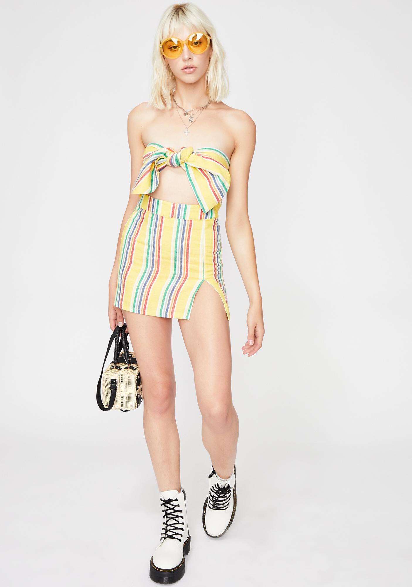 Carnival Cutie Stripe Tube Top