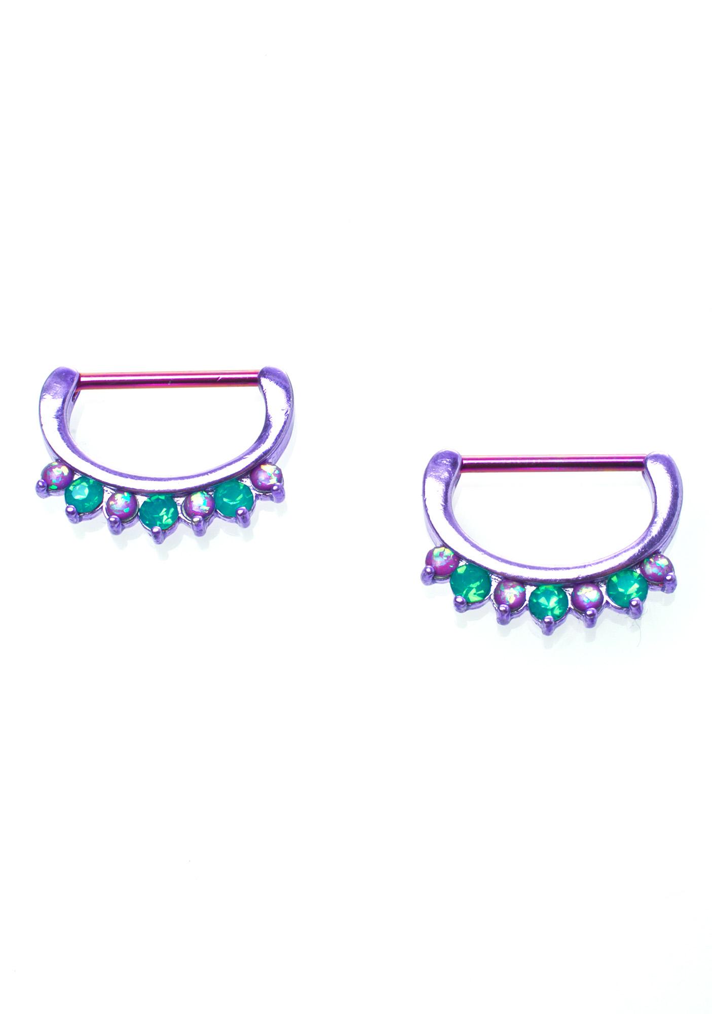 Crystal Gemz Nipple Ring Pack