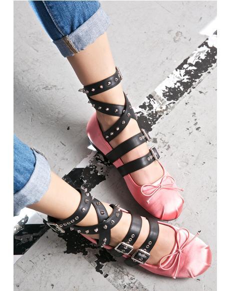Rosy Eleve Ballet Flats