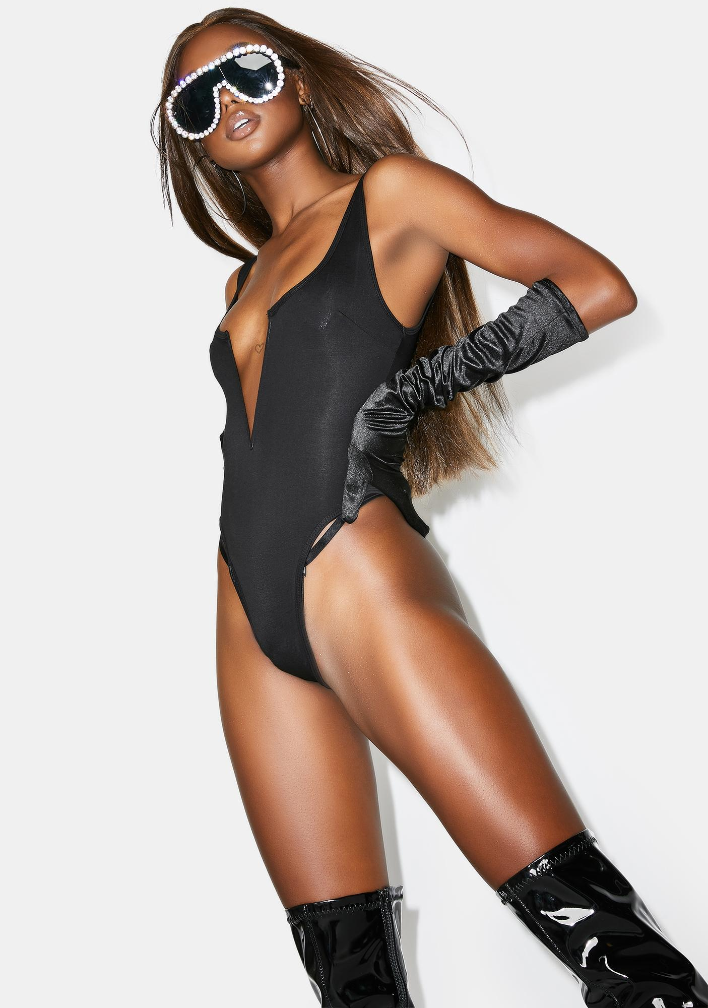 Poster Grl Risque Business Plunge Bodysuit