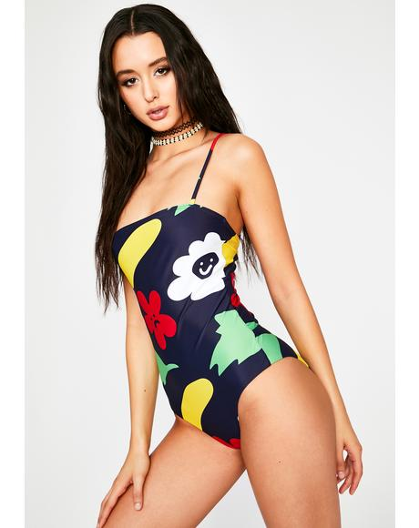 Flower Bed One Piece Swimsuit