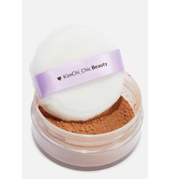 KimChi Chic Beauty Puff Puff Pass Setting Powder in Cocoa